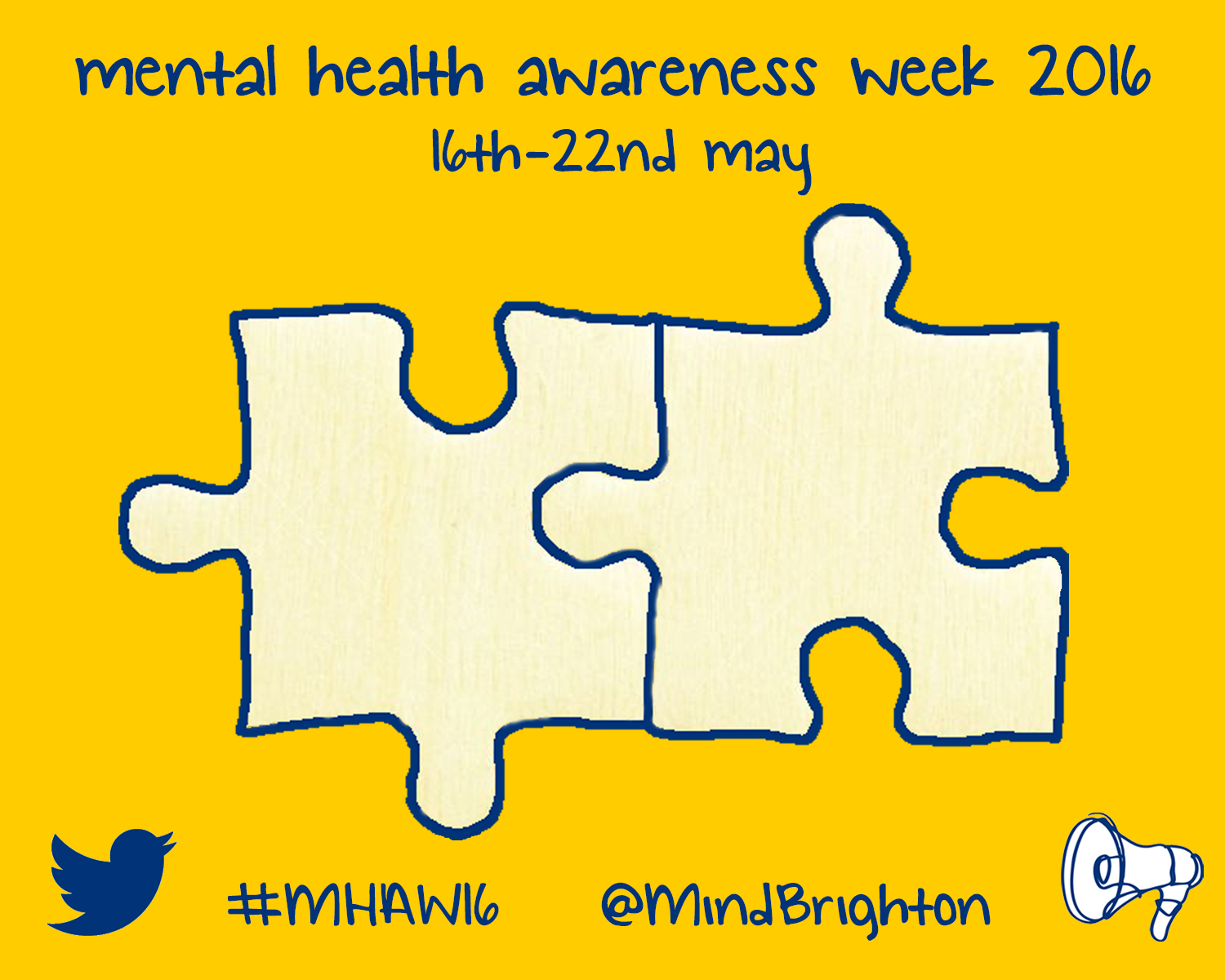 About Mental Health Awareness Week And Promote Better You Can Download A Template Of These Jigsaw Puzzles Fill In Your Message